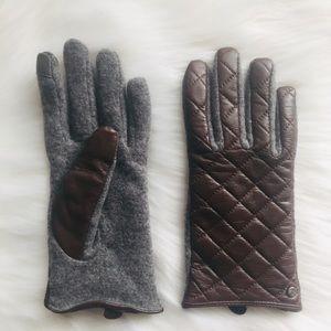 Ralph Lauren • Touch Gloves Leather Wool